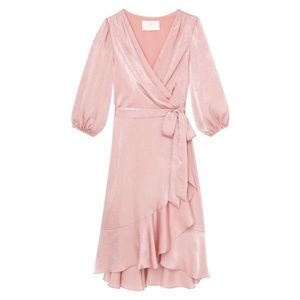 NWT Gal Meets Glam Mauve Pink Ruffle Wrap Dress, 2